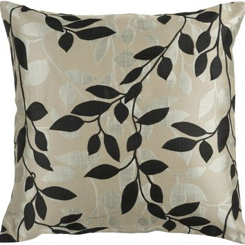 Wind Chime Throw Pillow Neutral, Black