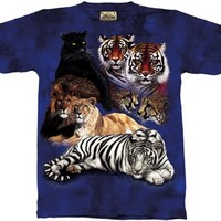 The Mountain Big Cat Collage T-shirt