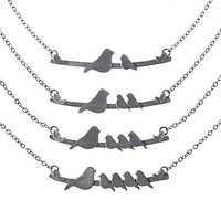 MOTHER NESTLING BIRDS NECKLACE   Sentimental Jewelry, For Mothers, Recycled Stering Silver Jewelry, Sparrow and Babies   UncommonGoods
