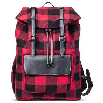 Men's Backpack Buffalo Check Red - Merona™