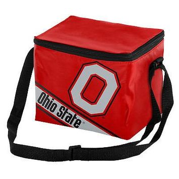Licensed Ohio State Buckeyes NCAA Cooler 6 Pack Ice Lunch Box Bag Forever Collectibles KO_19_1