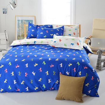 3 or 4Pcs Cartoon Pringting Bedding Set Duvet Cover Sets Bed Include Bed Sheet Pillowcase