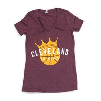 Cleveland Is King - Womens Vneck