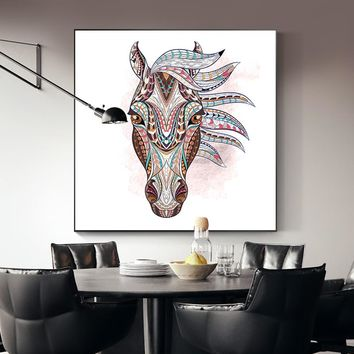 Nordic Style Canvas Painting White Horse Elephant Animal Posters And Print Modern Home Decor Wall Art Pictures For Living Room