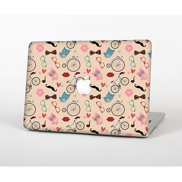 """The Tan Colorful Hipster Icons Skin for the Apple MacBook Air 13"""""""