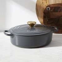 Le Creuset ® Signature 3.5-Qt. Graphite Grey Oval Dutch Oven