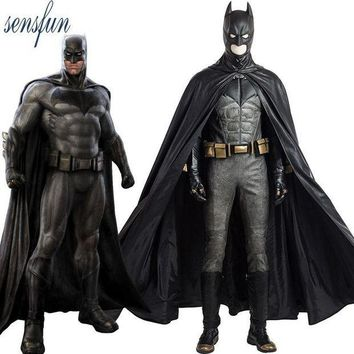 CREYLD1 Sensfun Justice League Batman Cosplay Costume Superhero Kigurumi Halloween Costumes for Adult Cosplay Batman Custom Made Suit