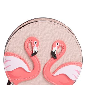 kate spade new york by the pool - flamingo polly coin pouch | Nordstrom