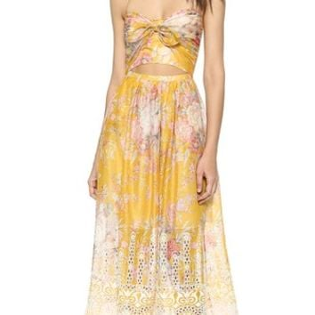 Zimmermann Confetti Scallop Tie Dress
