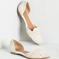 Well-Stepped Flat in White | Mod Retro Vintage Flats | ModCloth.com