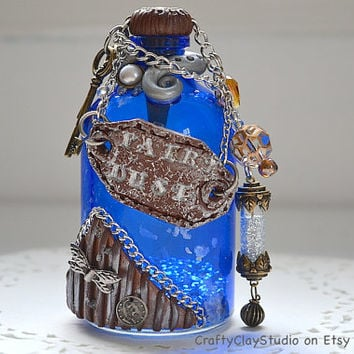 Fairy Jar - Fantasy Decor - Steampunk Decor - Renaissance Decor - Fantasy Prop - Magic Prop - Fairy Dust - OOAK Prop - OOAK Steampunk
