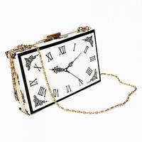 Clock Pattern Bag With Chain Strap - Choies.com
