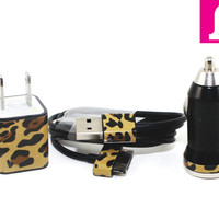 2in1 Black Classic Wild Thing iPhone Charger (For iPhone 5 and iPhone 4/4s in 3ft and 10ft long cable)
