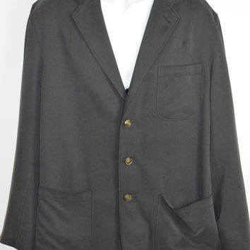Tommy Bahama 100% Silk Black Jacket Casual Blazer Large