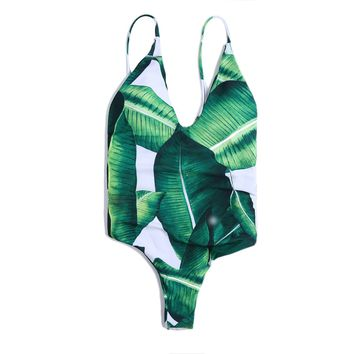 2018 One Piece Bikini Swimsuit Sexy Paded Swimwear Swim Suit for Women