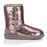 UGG Classic Short Sparkles Boot Heathered Lilac