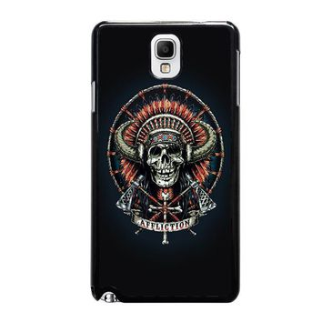affliction indian skull samsung galaxy note 3 case cover  number 1