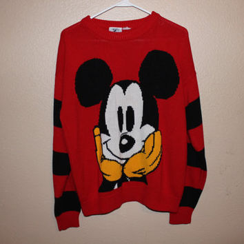 90s MICKEY MOUSE azealia banks styled SWEATER by STRUNGGOUTT