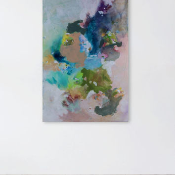 Colorful Textured Contemporary Abstract Painting, 36 x 24