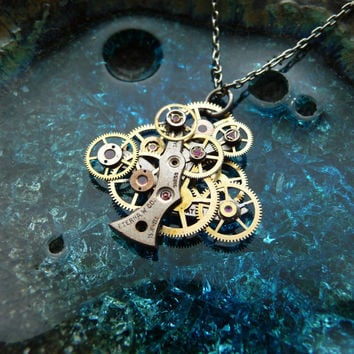 Watch Gear Necklace The Solitary Oak Mechanical by amechanicalmind