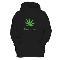 Vape Nation Go Green Man's Hoodie