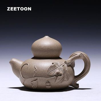200cc AuthenticYixing Teapot Spring Buds Pot Chinese Healthy Purple Clay Master Handmade Chun Lei Pot Creative Vintage Tea Set