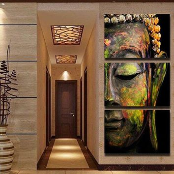 Buddha Face Painting Canvas Religion Wall Art Print Painting For Home Office Decor Buddha Meditation Custom Painting dropship