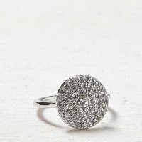 AEO Women's Pave Disc Ring (Silver)