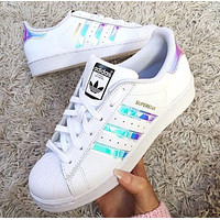 """Adidas"" Women Men Fashion Reflective Flats Sneakers Sport Shoes"