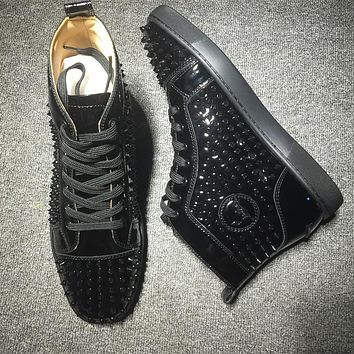 Cl Christian Louboutin Louis Spikes Style #1836 Sneakers Fashion Shoes