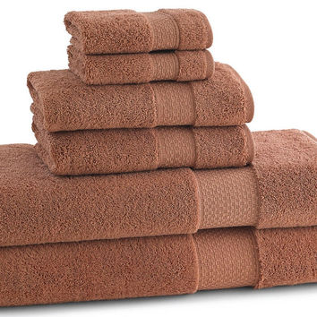 ELEGANCE TOWELS | Set of 6| Cayenne