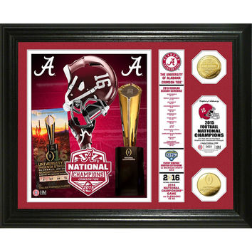Alabama 2015 College Football National Champions Banner Gold Coin Photo Mint