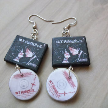 My Chemical Romance Three cheers for sweet revenge album earrings