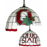 Traditions Art Glass Studios OSU550 Ohio State Buckeyes Stained Glass Dome Pendant