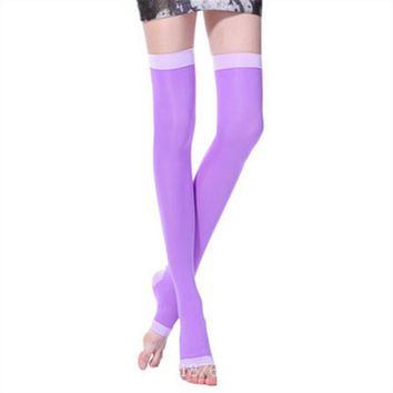 Fat Burner Stovepipe Stockings Non-slip High Elasticity Relieve Pressure Socks Protect Knee to Promote Sag Sleeping Socks T238