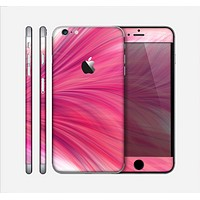 The Abstract Pink Flowing Feather Skin for the Apple iPhone 6 Plus