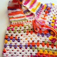 Girls/Women Hooded Poncho Afghan Poncho Fall/Winter Outwear Granny Square Poncho Made to Order Toddler to Adult Sizes