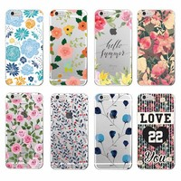 Floral Flowers Rose Daisy Cherry Blossom Trendy Fashion Cute Soft Phone case For Samsung Galaxy J5 A5 S8 S8PLUS  S6 S7 edge