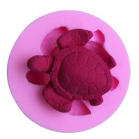 SILICONE MOLD CUTE MINI 3D SEA TURTLE DIY CUPCAKE CHOCOLATE SOAP CANDLE CRAFT CAKE DECORATION TOOLS SUPPLIES.