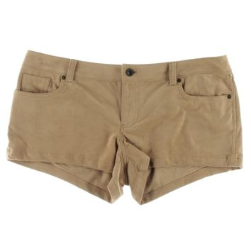 Guess Womens Kate Faux Suede Low Rise Casual Shorts