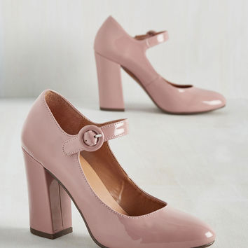 Going Through the Loco-Motions Heel in Blush | Mod Retro Vintage Heels | ModCloth.com
