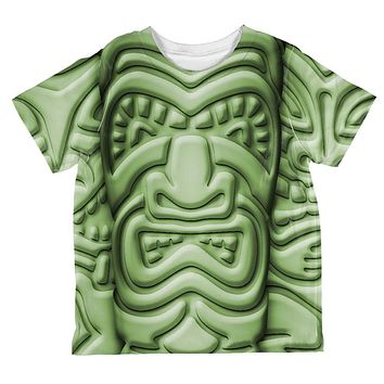 Tiki God Green Face Luau All Over Toddler T Shirt