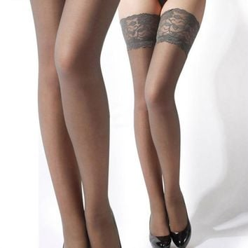 Women's thigh high stockings High Lace Boots Golfs hosiery