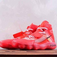 DCCK2 N302 Off-White x Nike REACT Hyperdunk 2017 Foam High Sports Shoes Red
