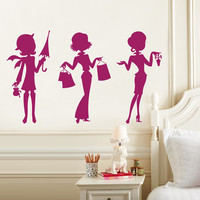 Teen Girl Wall Decal - Fashion Wall Decals - Chic Modern Contemporary Wall Decals - Nursery Wall Decal - Custom Decal Wall Graphics
