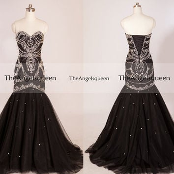 Black sequins long prom dresses,long bridesmaid dress,prom dresses,prom dress,bridesmaid dress,party dresses,prom dresses 2016,prom dress
