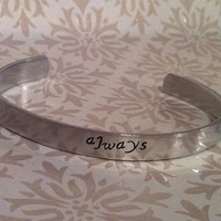 Always Harry Potter Hand Stamped Bracelet Cuff by MelodicDesign