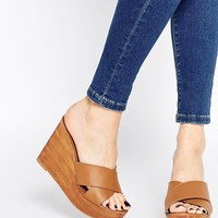 Park Lane Wedge Leather Mules