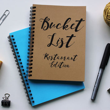 RESTAURANT EDITION - Bucket List -   5 x 7 journal