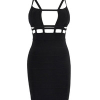 Sleeveless Strappy Cut-Out Mini Dress